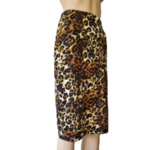 Brat Star Leopard Pencil Cut Skirt Large Size
